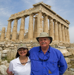 The authors in front of the Parthenon