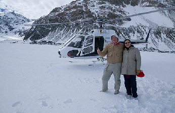 Larry and Lilliam on the glacier