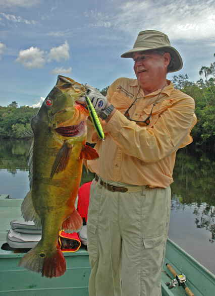 Larry with 18-pound peacock bass