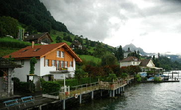 Lucerne waterfront in Switzerland